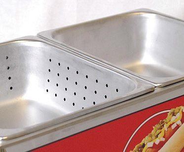 mini hot dog steamer cart trays