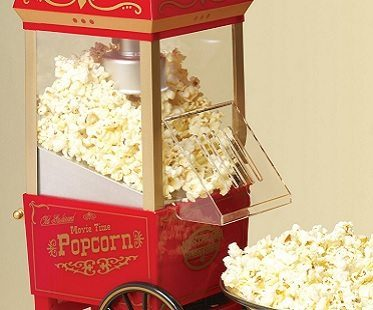 mini vintage popcorn cart
