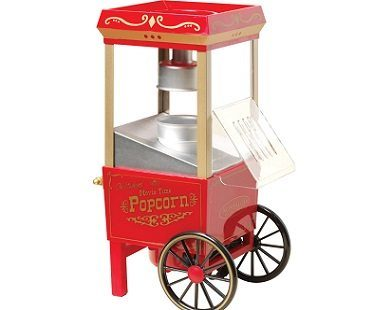 mini vintage popcorn cart plain