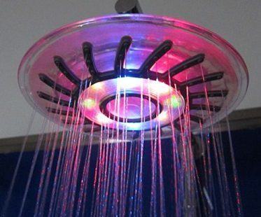 mixed color led shower head