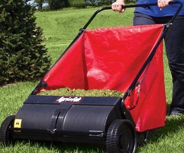 push lawn sweeper grass