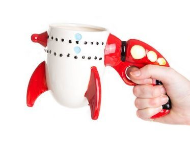ray gun rocket mug hold