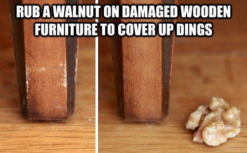 repair wood marks chips