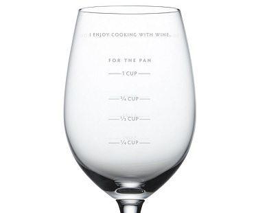 sauce measuring wine glass close