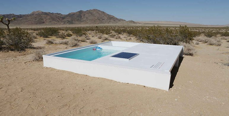 secret swimming pool desert