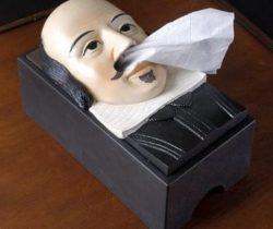 shakespeare tissue box cover