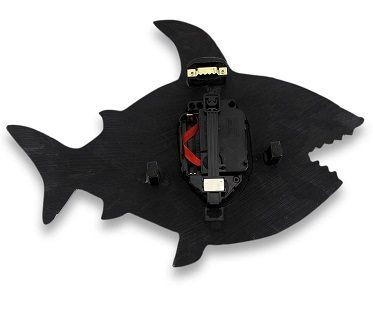 shark wall clock back