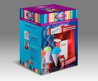 single snow cone maker packaging