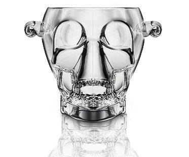 skull ice bucket front