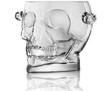 skull ice bucket side