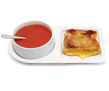 soup bowl and sandwich plate