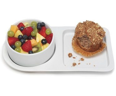 soup bowl and sandwich plate fruit