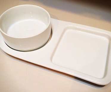 soup bowl and sandwich plate plain
