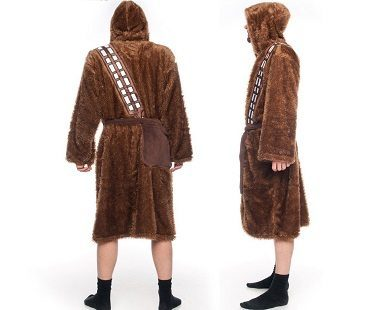 star wars chewbacca bathrobe back side