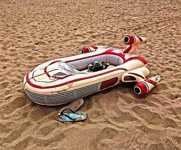 star wars inflatable landspeeder sand