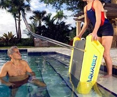 swimming pool treadmill into water