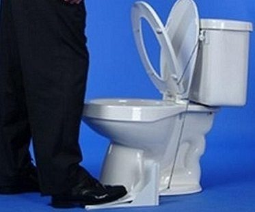toilet seat lifter blue