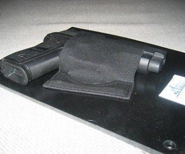 under desk gun holster side