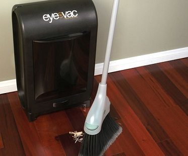 vacuuming dustbin