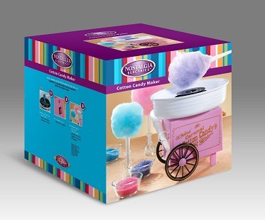 vintage cotton candy maker packaging