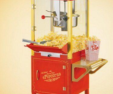 vintage popcorn cart close