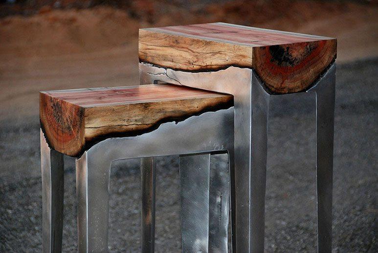 wood-aluminium-table
