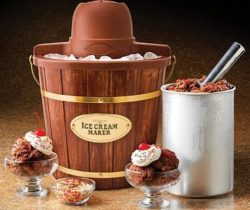 wooden bucket ice cream maker
