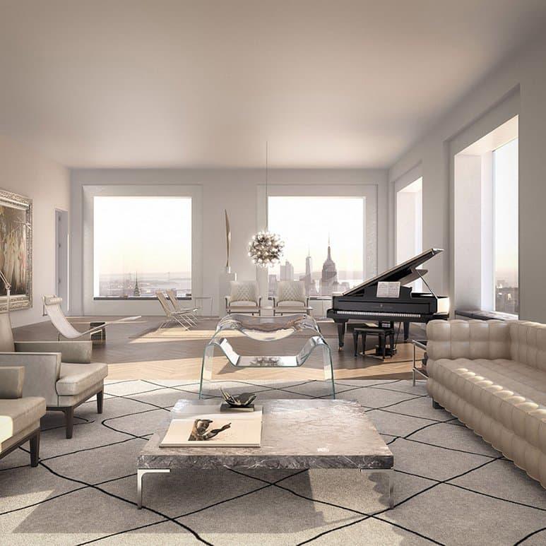 432 park avenue living room