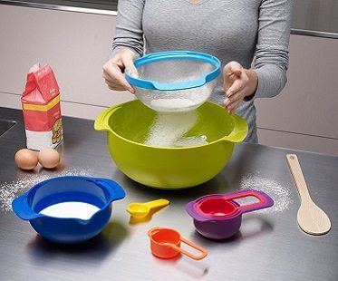 9 Piece Nesting Bowls flour