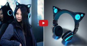 Cat ear-headphones