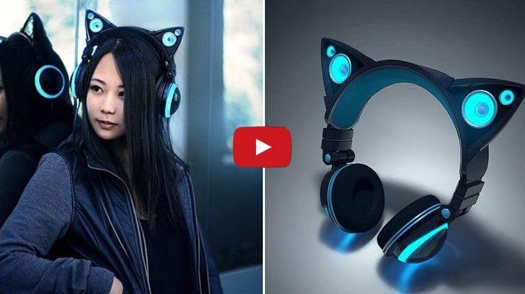 Cat ear-headphones