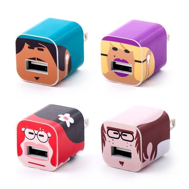 Character iPhone Cable Stickers