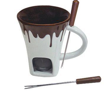 Chocolate Fondue Mug Set plain