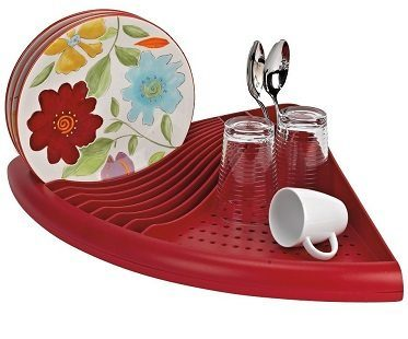 Corner Dish Rack red
