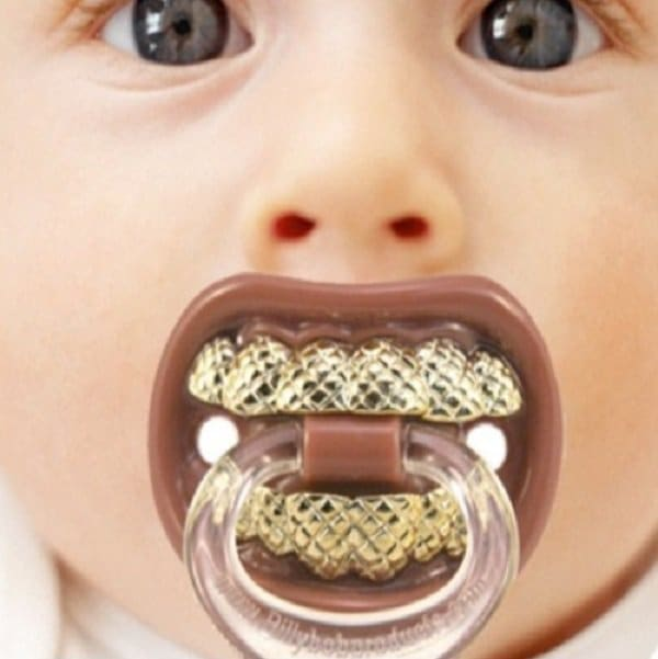 Gold Teeth Pacifier