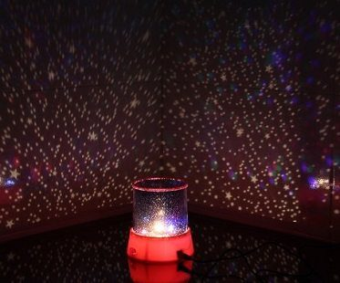 LED Starry Night Lamp red