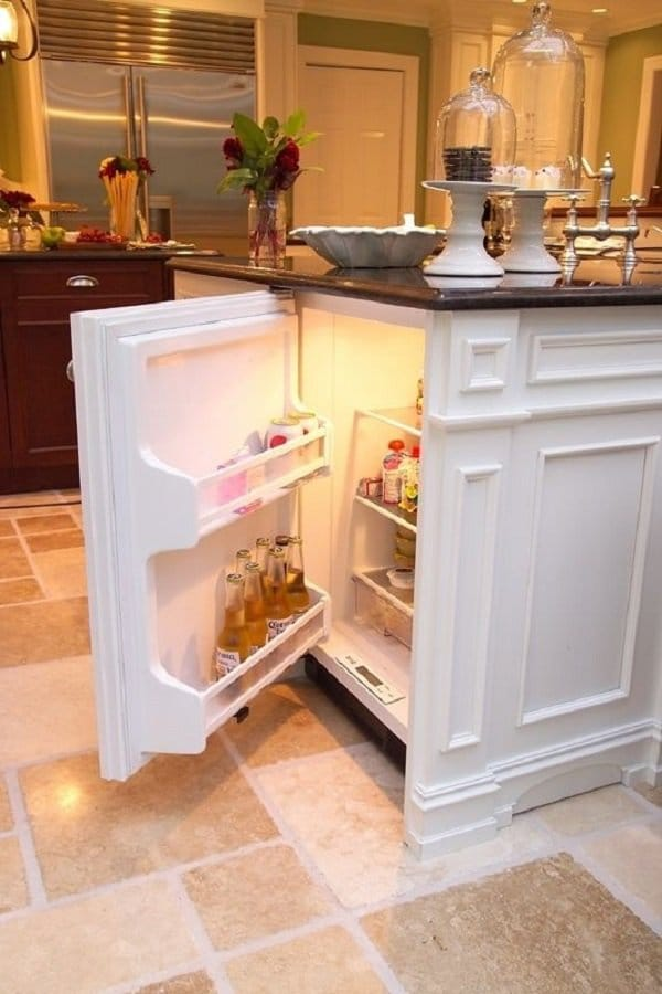 Mini Fridge in Your Kitchen Island
