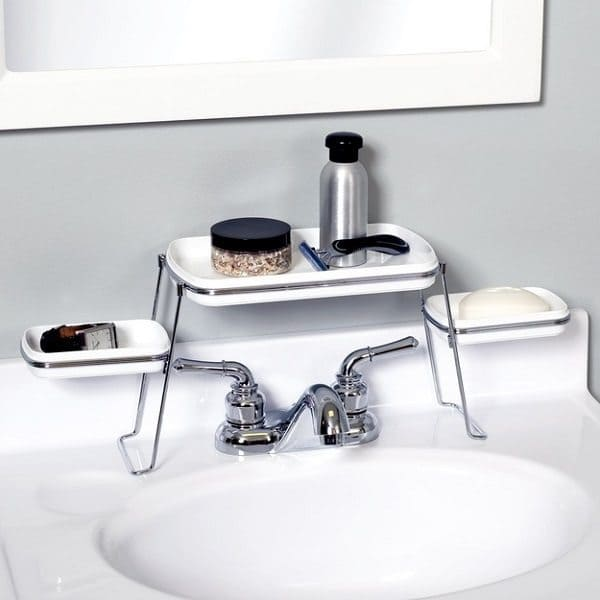 Over-the-Faucet Shelf for ToiletrieS