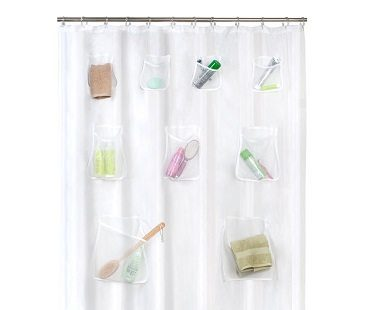 Pockets Shower Curtain bathroom