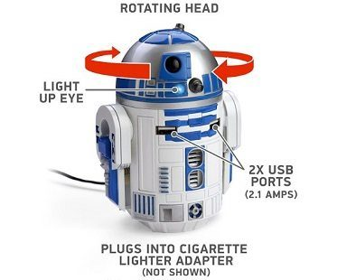 R2-D2 USB car charger design