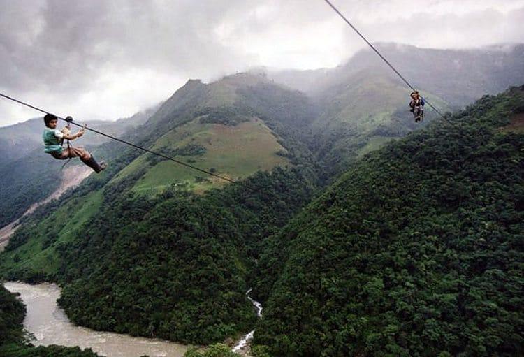 Rio Negro River, Colombia cable