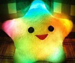 Smiling Star LED Pillow