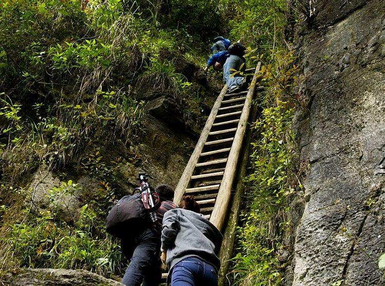 Zhang Jiawan Village, Southern China ladder