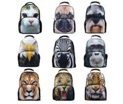 animal face backpacks