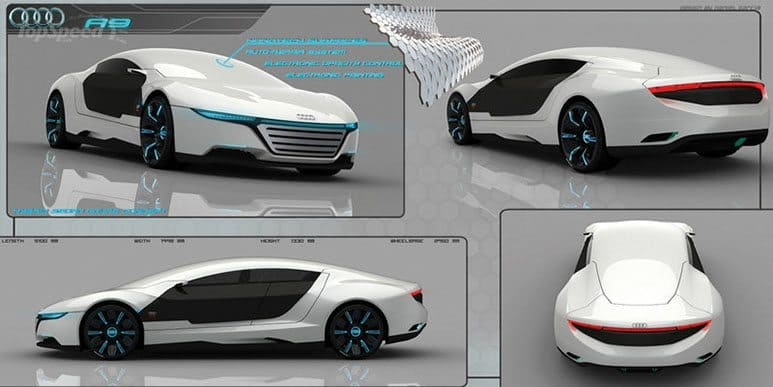 Audi A9 Concept Car Repairs Itself And Changes Color