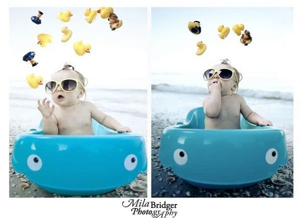 baby bath to the beach