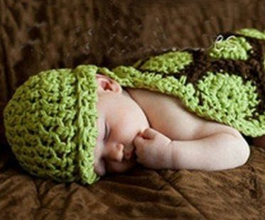 baby crochet turtle outfit beanie