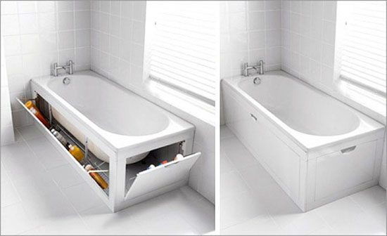 bathtub hidden storage