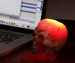 bleeding skull candles