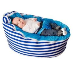 blue baby bean bag